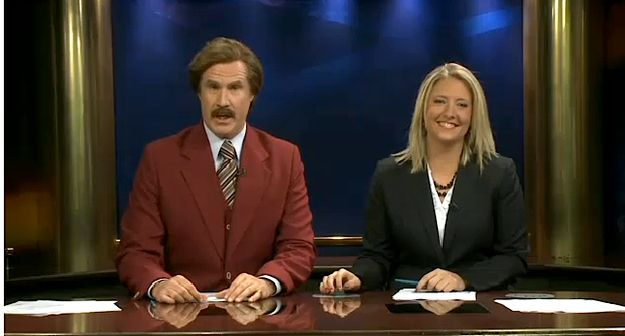 Ron Burgundy Joined An Actual Newscast In North Dakota Last Night