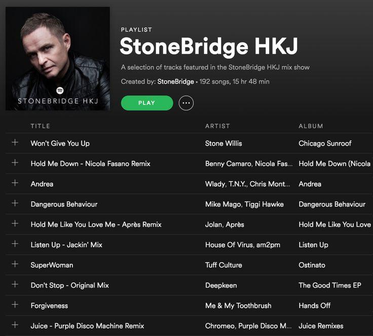 StoneBridge HKJ Playlist on Spotify updated with funky heat and some proper funky goodness - check it out! https://open.spotify.com/user/1148609998/playlist/2RIhWhMIoGUUaNFtiZbmMV #stonebridge #hkj #sexy #funky #house