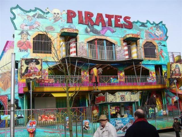 Pirate themed dark ride