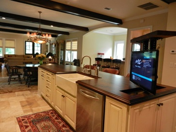 Kitchen photos pop up tv design ideas pictures remodel for Pop design for kitchen