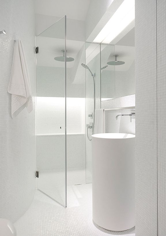 #White #bathroom