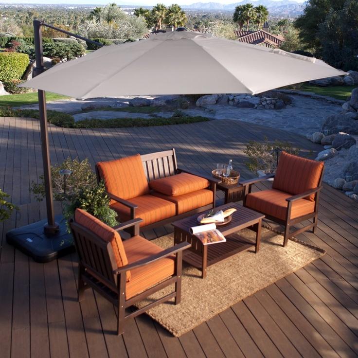 Offset Umbrella And Base 360 Rotation Horizontal Tilt   Offset