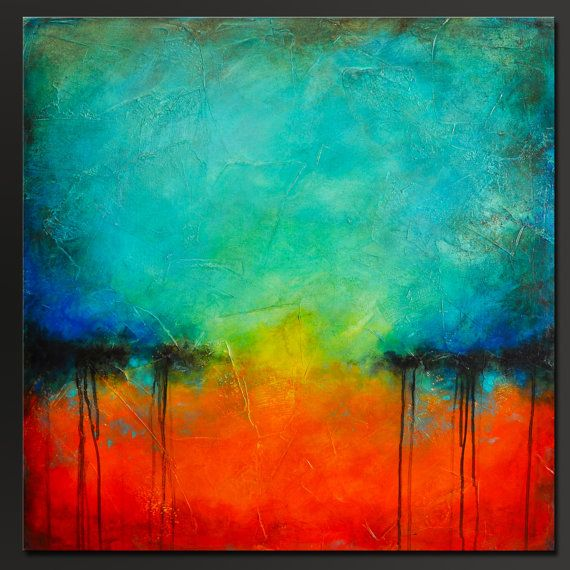 De 20 bedste id er inden for abstract acrylic paintings for Textured abstract art techniques