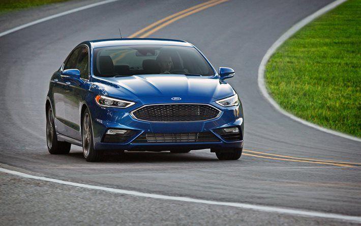 Scarica sfondi Ford Fusion Sport, 4k, il 2017, auto, strada, Ford