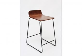 m.a.d Lolli Counter Stool code:BS3800-Cdimensions:470x510x700 sh610materials:Powdercoated Solid Steel Rod Frame; Wood Veneer, Moulded Plywood Seatcolours:Black or White, Ash, Walnut and Blackpackaging:4pc per Carton 850x530x560Description:m.a.d Lolli Counter Stool #obododesign #furnituredesign