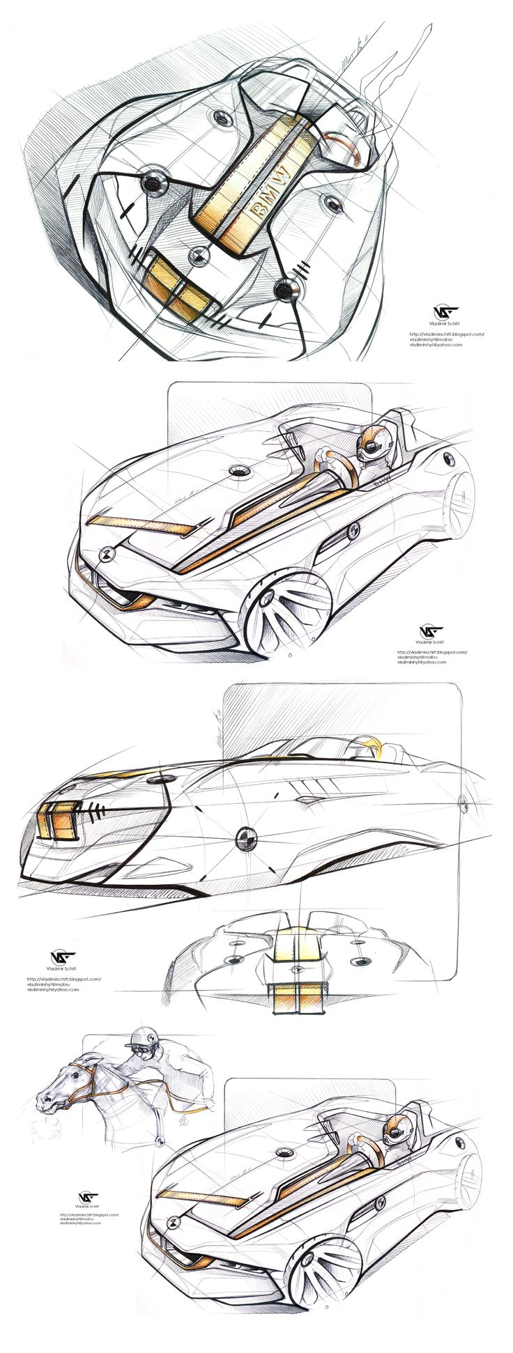 BMW sketches by Vladimir Schitt