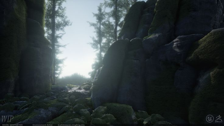 UE4 Organic Rendering Part 2: Moss, Kevin Whitmeyer on ArtStation at https://www.artstation.com/artwork/5KKPw