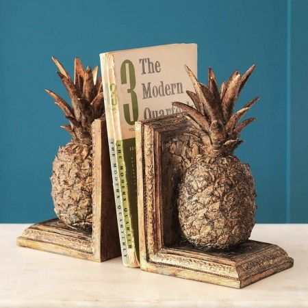 Golden Pineapple Bookends - View All Home Decoration - Home Decoration - Home Accessories