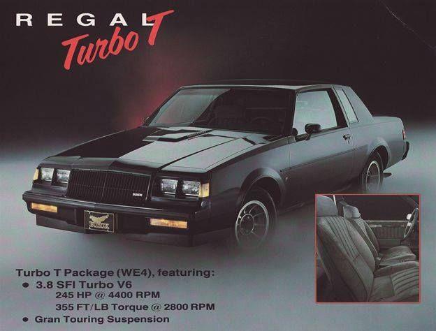 """80s-90s-stuff: """"80s car ad - '87 Buick Regal Turbo T """""""