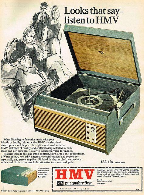Vintage Ad #1,787: Looks that say - listen to HMV by jbcurio, via Flickr