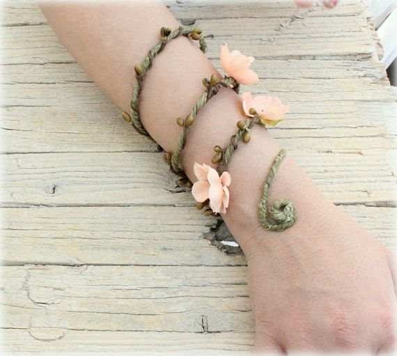 Hey, I found this really awesome Etsy listing at https://www.etsy.com/listing/186109310/peach-woodland-forearm-woodland-cuff