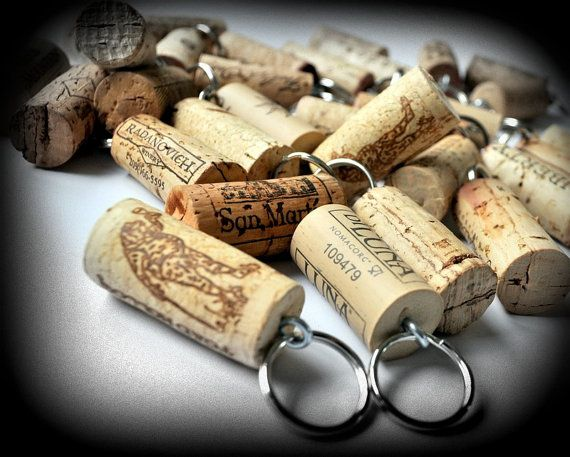 25 Wine Cork Keychains, Great Favors for Weddings Parties or Showers, Wine Decor, Unique Wedding Favors, Wine Gift, Wine Themed Wedding