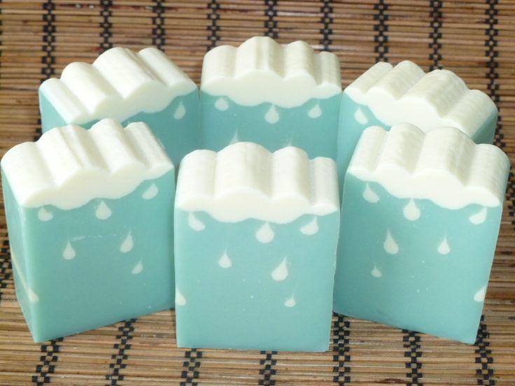 calming blue soap design
