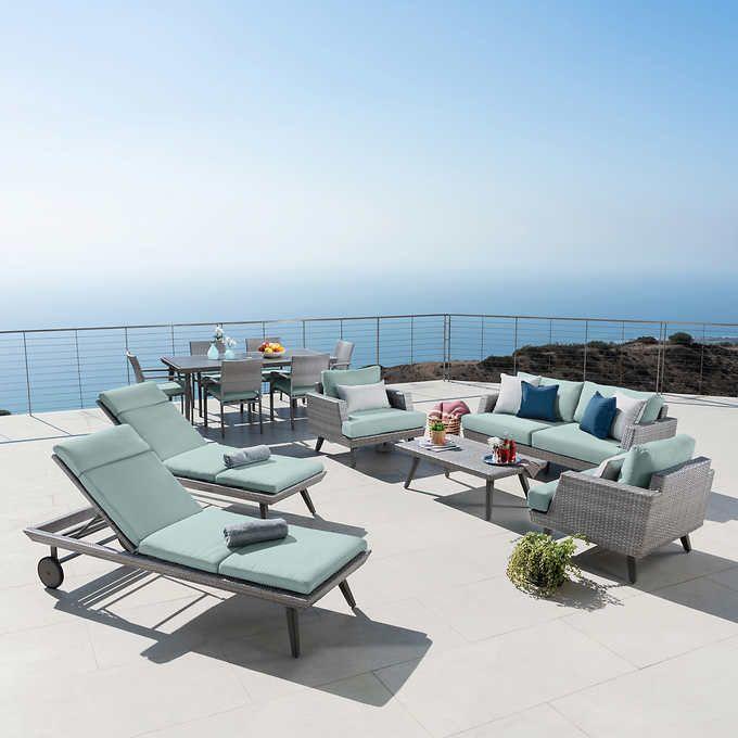 Casual 13 Piece Estate Collection Backyard Furniture Outdoor