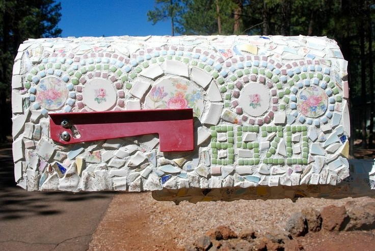 Mailbox From Ugly to Pretty Our mailbox, at our summer home, in Pinetop, AZ was so ugly. My husband insisted, once the snow plow took our ou...