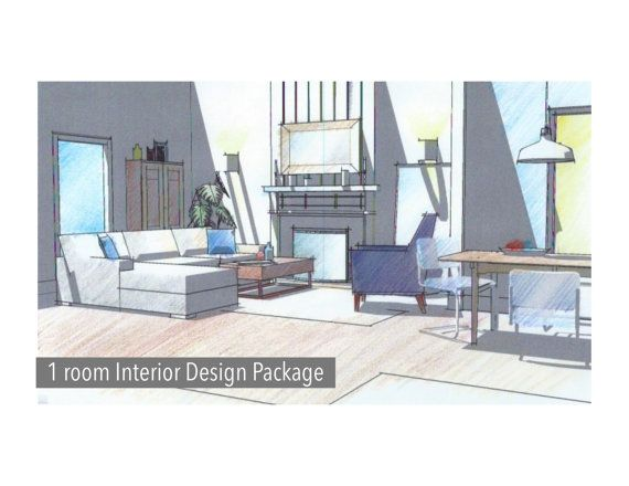 1 Room Custom Interior E Design By Bdesignsinteriors On Etsy