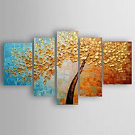 Oil Painting Landscape a Big Tree of Set 5  Hand Painted Canvas with Stretched Framed Ready to Hang – AUD $ 305.05