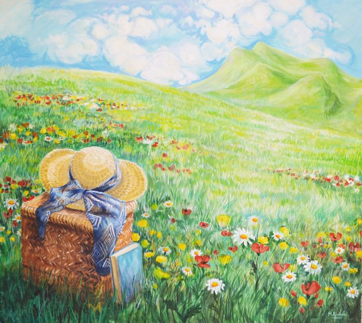 summer landscape painting Marra Art - on facebook :)