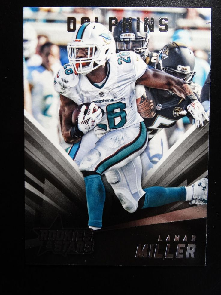 2015 Panini Rookies & Stars #6 Lamar Miller Miami Dolphins Card #MiamiDolphins