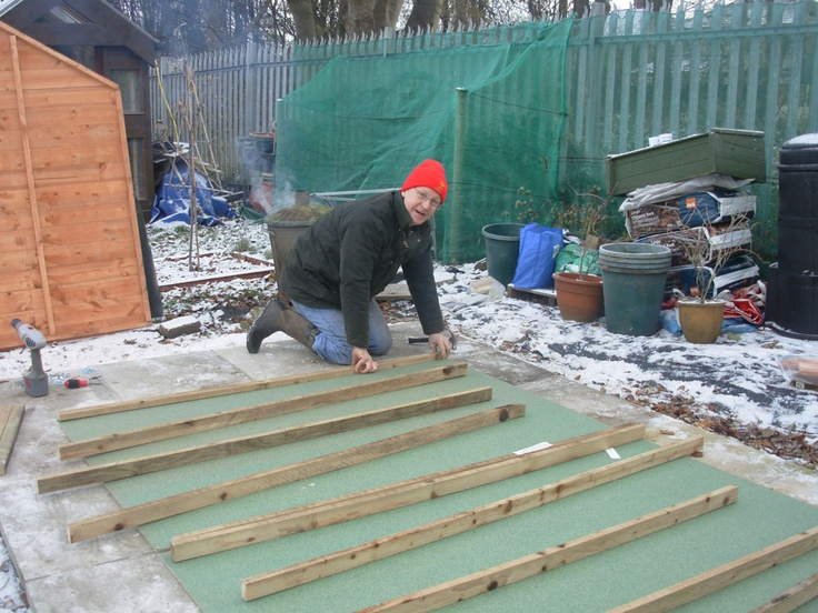 Building the shed in the snow!Snow, Allotment, Sheds, Buildings