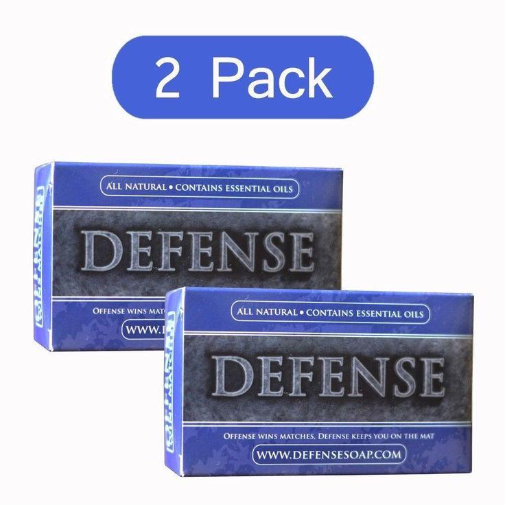 Defense Soap Bar 2 Pack Antibacterial Antifungal Tea Tree Oil 4 Oz #Defense