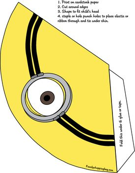 Party Hat, Despicable Me, Party Hats - Free Printable Ideas from Family Shoppingbag.com