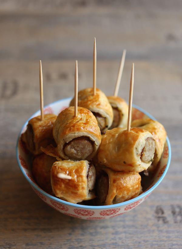 Recette Feuilletés à la saucisse - Recipe sausage puff pastry