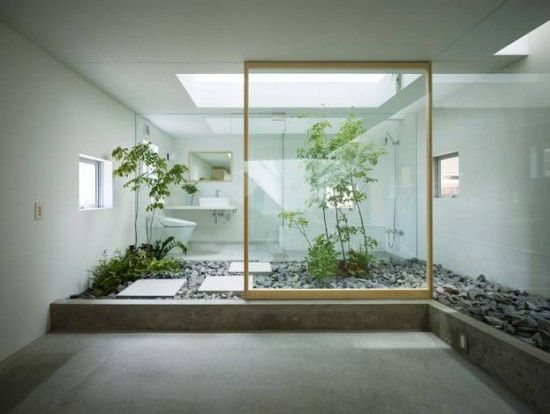 Indoor Garden - Zen bathroom