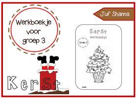 Juf Shanna: Thema kerst - Werkboekje voor groep 3