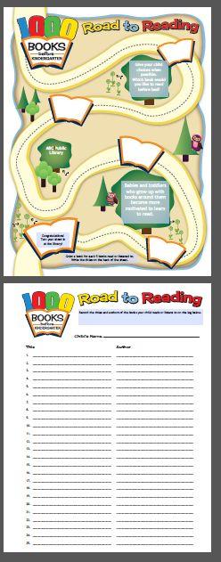 Customizable Reading Log for the 1000 Books before Kindergarten program. Waukesha County Federated Library System. Libraries and not-for-profits may use the materials in accordance with the image license agreement located here: http://www.wcfls.org/marketing/