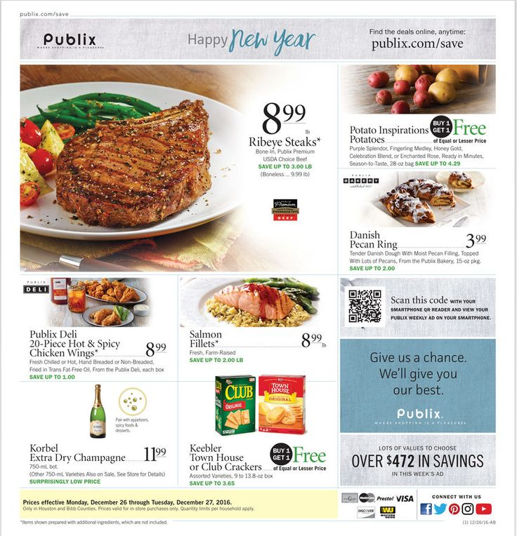 Publix Weekly Ad December 26 - 27, 2016 - http://www.olcatalog.com/grocery/publix-weekly-ad.html
