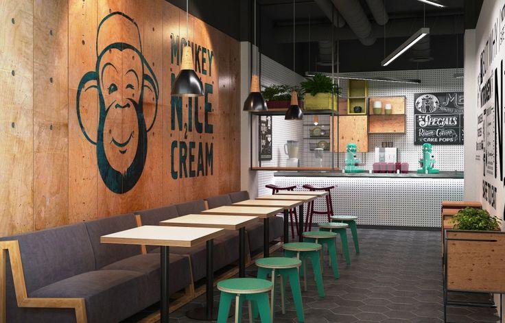 Дизайн кафе, мороженое, летнее кафе #cafe #ice #design #ice_cafe #3d #дизайн_кафе