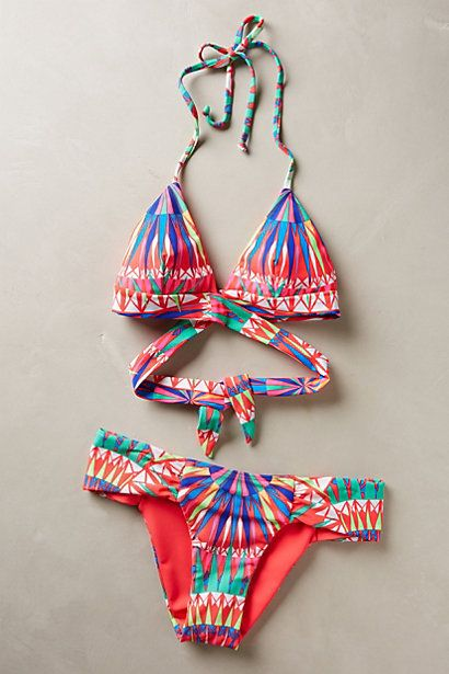 """""""Supernova"""" halter top and ruched bottoms by Mara Hoffman, $126.00 and $110.00 from Anthropologie."""