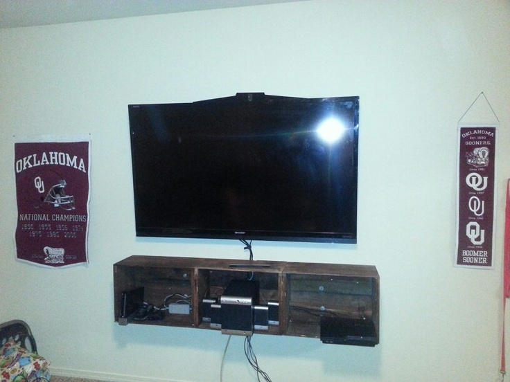 Wall Mounted Home Made Entertainment Center To Go Under My