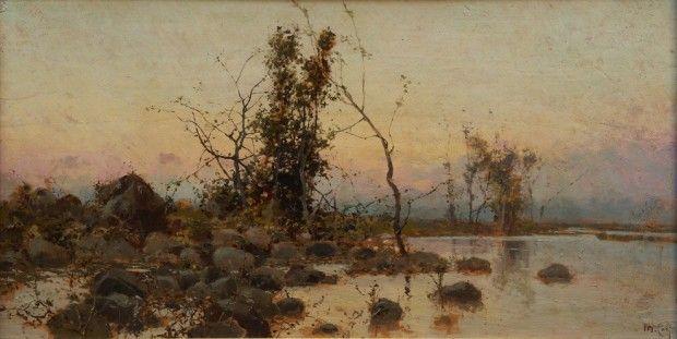 Laguna (olio su tela, collezione privata)