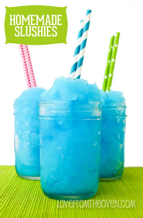 Easy Homemade Slushie Recipe... will try without food coloring