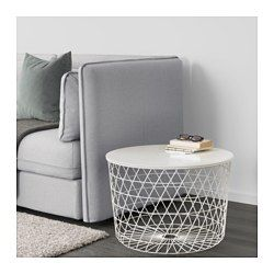 IKEA - KVISTBRO, Storage table, , You can store everything from throws and pillows to newspapers and yarn in the basket - or leave it empty to give an open, spacious feeling.A handle in the table top makes it easy to open and get to things stored in the basket.The airy design makes the table easy to lift and move.Suitable throughout the home to use e.g. as a coffee table, side table or nightstand.