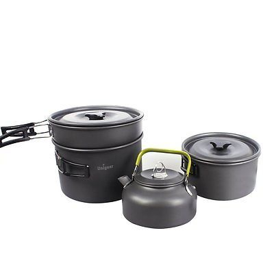 Camping Cookware Outdoor Cooking Equipment Mess Kit Backpacking Gear Hiking Pan