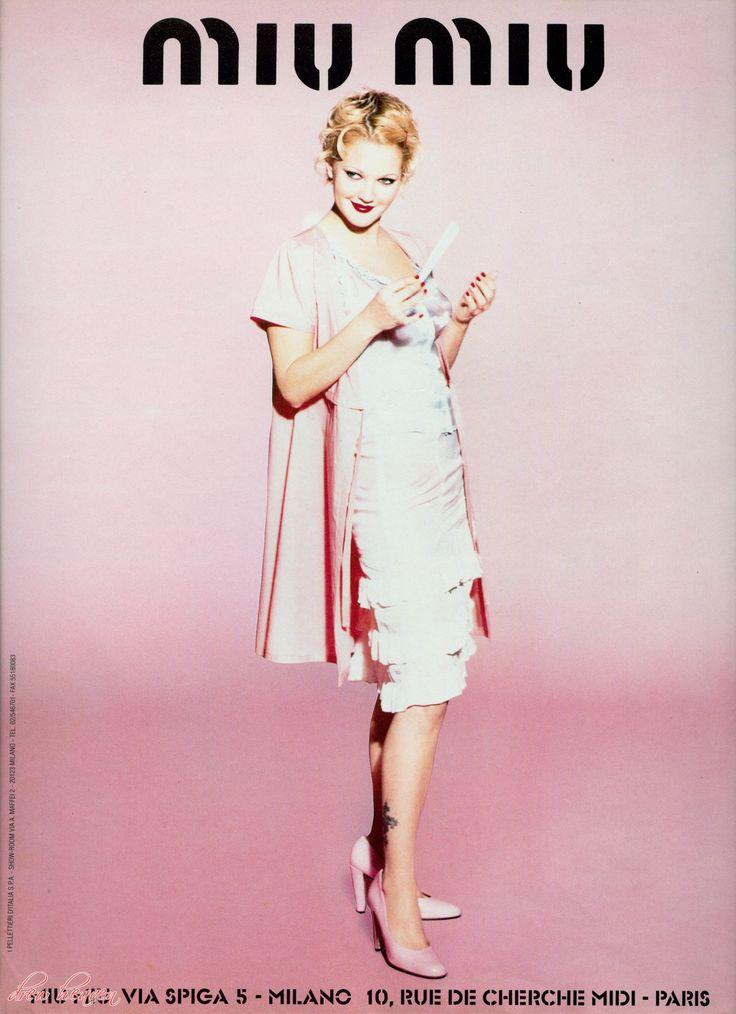 Miu Miu Spring/Summer 1995, Drew Barrymore by Ellen von Unwerth.
