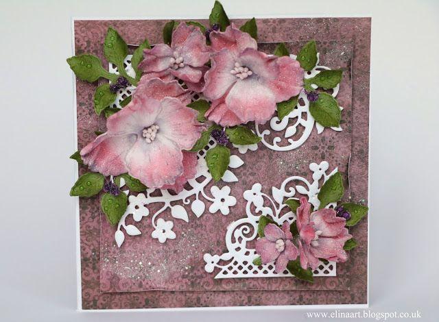 Elina Cardmaking Hobby: Purple garden - Heartfelt Creation DT