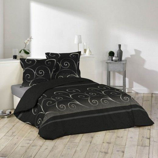 parure de lit housse de couette romantique volute ambiance deco pinterest. Black Bedroom Furniture Sets. Home Design Ideas