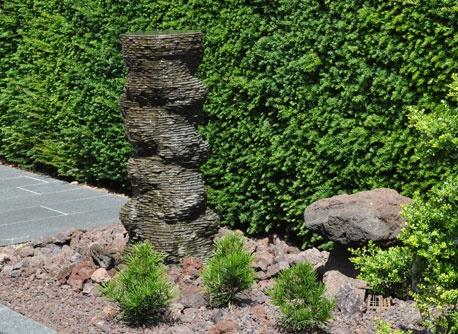 Original waterpartij natuursteen waterornamenten pinterest - Bassin tuin ontwerp ...