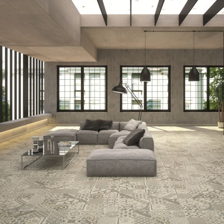 Riviera Tile Designs Feature A Mix Of Tile Patterns And Are Only Sold In  Packs Of Seven. The Concrete Classic Floor Tiles Have Been Designed To  Match The ...