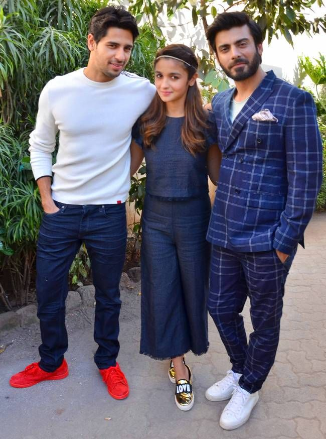 Sidharth Malhotra, Alia Bhatt and Fawad Khan at Mehboob Studio. #Bollywood #Fashion #Style #Beauty #Sexy #Cute
