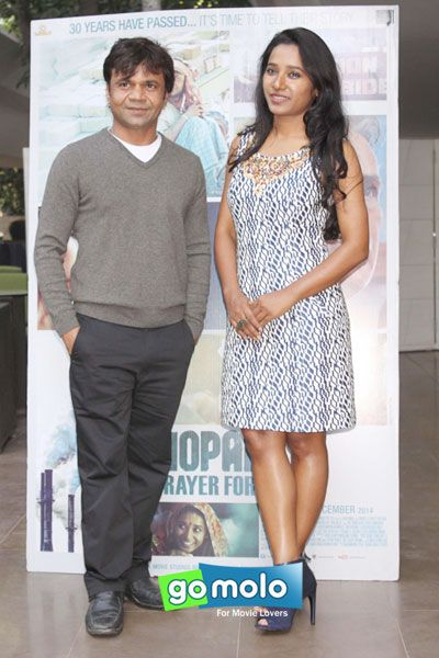 Rajpal Yadav & Tannishtha Chatterjee at the Promotion of Hindi movie 'Bhopal: A Prayer for Rain' in New Delhi