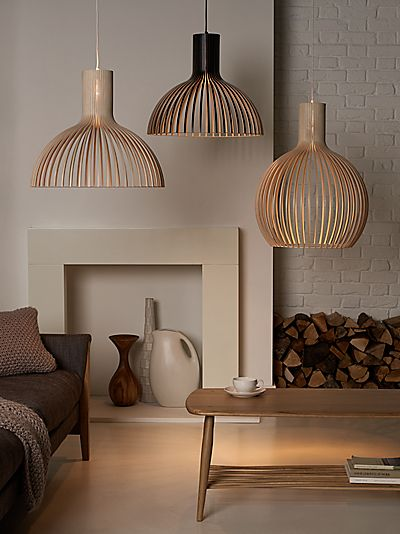 Secto Victo Ceiling Light, Birch - John Lewis