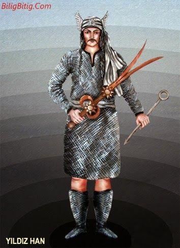 Yıldız-Han Türk Mitolojisi Karakteri - Türk Asya - Bilig Bitig, Asian Turkish, Тюрки России