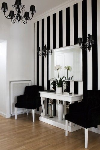 Another way to paint your craft room!  I am a big fan of black and white