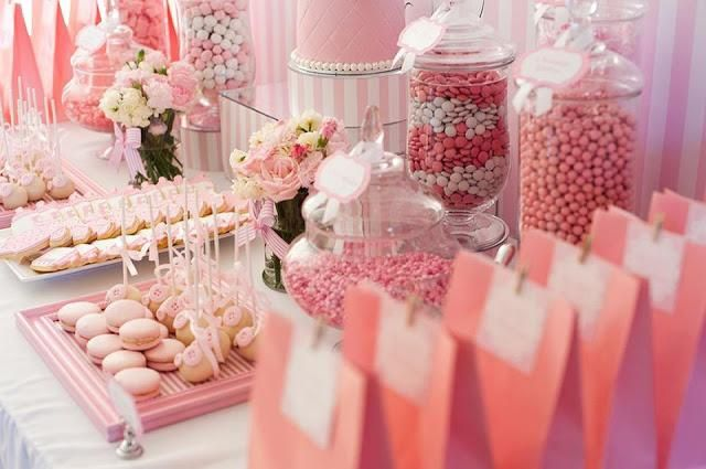 Pink And White Baby Shower By Life Is Sweet Candy Buffets Baby