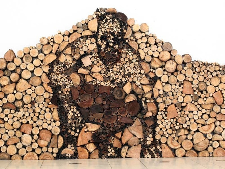 Dead Wood INstallation by Várnai Gyula ~ The artist Gyula, who lives and works in Dunaújváros, used wood logs to create this unique sculpture. Definitely a lot of precision and patience was needed in order to build this.